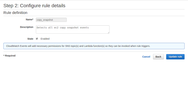 CloudWatch Events Lambda